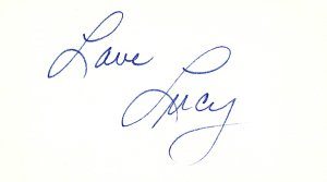 Lucille Ball signature